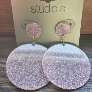 NWT! Studio S Purple Disc Earrings